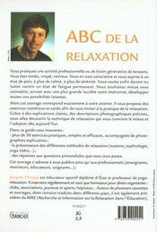 Abc De La Relaxation - 4ème de couverture - Format classique