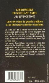 Meurtre Chez Les Druides - 4ème de couverture - Format classique