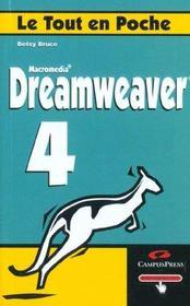 Le Tout En Poche Dreamweaver 4 - Intérieur - Format classique
