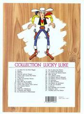 Lucky Luke t.30 ; Calamity Jane - 4ème de couverture - Format classique