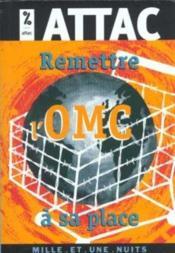 Remettre L'Omc A Sa Place - Couverture - Format classique