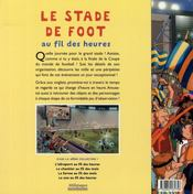Le stade de foot au fil des heures - 4ème de couverture - Format classique