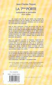 La 7e Porte ; Symbolisme Et Spiritualite D'Un Cloitre - 4ème de couverture - Format classique
