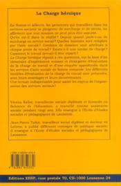 La Charge Heroique. Missions, Organisations Et Modes D'Evaluation De La Charge De Travail Dans L'Ai - 4ème de couverture - Format classique