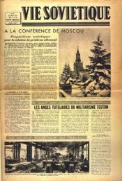 Vie Sovietique N°40 du 22/03/1947 - Couverture - Format classique