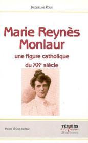Marie reynes monlaur - Couverture - Format classique
