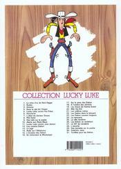 Lucky Luke t.9 ; des rails sur la prairie - 4ème de couverture - Format classique