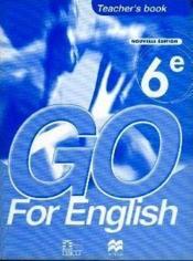 Go for english 6e / livre du professeur (senegal) - Couverture - Format classique
