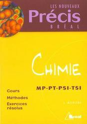 Precis chimie chimie mp pt psi - Intérieur - Format classique
