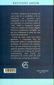 Corps Astral - 4ème de couverture - Format classique