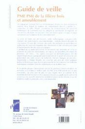 Guide de veille ; pme pmi de la filiere bois et ameublement - 4ème de couverture - Format classique