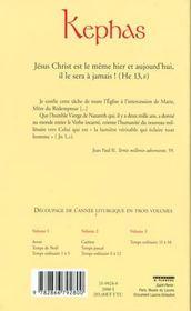 Missel Kephas, Tome 3 (Reluskin) - Missel De Tous Les Jours - 4ème de couverture - Format classique