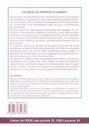 Les Peres Se Mettent En Quatre !. Responsabilites Quotidiennes Et Mod Eles De Paternite - 4ème de couverture - Format classique