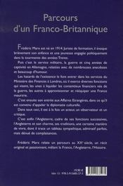 Parcours d'un Franco-Britannique à travers le Siècle - 4ème de couverture - Format classique