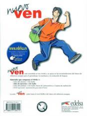 Nuevo ven 1 ; cahier d'activités + cd audio - 4ème de couverture - Format classique