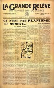 Grande Releve (La) N°19 du 01/04/1947 - Couverture - Format classique