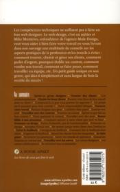 Métier web designer - 4ème de couverture - Format classique