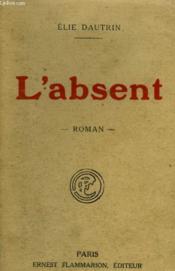 L'Absent. - Couverture - Format classique
