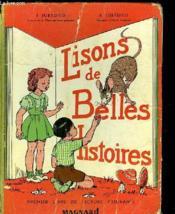 Lisons De Belles Histoires - Premier Livre De Lecture Courante - Couverture - Format classique