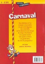 Carnaval et autres sketches - 4ème de couverture - Format classique