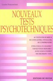 Nouveaux tests psychotechniques - Intérieur - Format classique