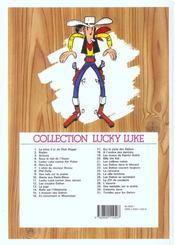 Lucky Luke t.10 ; alerte aux pieds-bleus - 4ème de couverture - Format classique