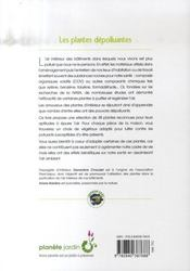 Les Plantes Depolluantes - 4ème de couverture - Format classique
