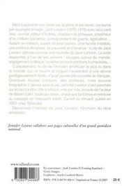 Jack London - 4ème de couverture - Format classique