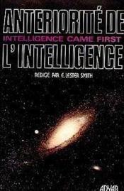 Anteriorite de l'intelligence - Couverture - Format classique