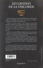 La Couronne Des 7 Royaumes T.3 ; Les Graines De La Discorde - 4ème de couverture - Format classique