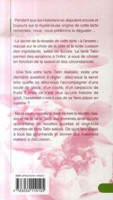 Tatins salees et sucrees - 4ème de couverture - Format classique