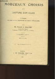 Morceaux Choisis Et Lecture Expliquee Du Brevet Elementaire - Couverture - Format classique