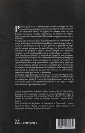 La Polysemie Ou L'Empire Des Sens. Lexique, Discours, Representations - 4ème de couverture - Format classique