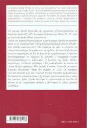 Electromagnetisme 2e Annee Mp-Mp*-Pt-Pt* Cours Et Exercices Corriges - 4ème de couverture - Format classique