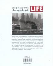 Plus Grands Photographes De Life (Les) - 4ème de couverture - Format classique