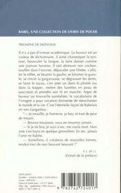 Triomphe de Dionysos. anthologie de l'ivresse - 4ème de couverture - Format classique