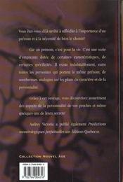 La Personnalite Revelee Par Les Prenoms ; Leurs Significations Et Leur Analyse Numerologique - 4ème de couverture - Format classique