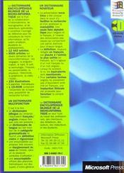 Dictionnaire De La Micro-Informatique - 4ème de couverture - Format classique