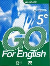 Go for english 5e / livret d'activites - Couverture - Format classique