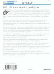 802.11 Reseaux Sans Fil La Reference 2e Edition - 4ème de couverture - Format classique