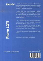 Matelot - 4ème de couverture - Format classique