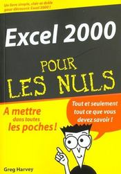 Excel 2000 Pour Les Nuls - Intérieur - Format classique