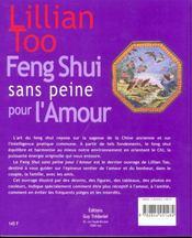 Le Feng Shui Facile Pour L'Amour - 4ème de couverture - Format classique