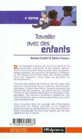 Travailler avec des enfants ; 2e edition - 4ème de couverture - Format classique