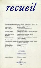 Recueil 26 - Couverture - Format classique