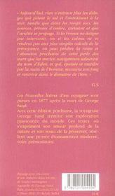 Nouvelles Lettres D'Un Voyageur - 4ème de couverture - Format classique