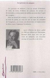 Les Graveurs De Memoire - 4ème de couverture - Format classique