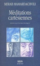 Méditation cartésiennes - Couverture - Format classique