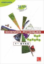 Sciences physiques ; 1ère STAE bac techno - Couverture - Format classique