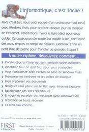 Windows Vista et internet facile - 4ème de couverture - Format classique